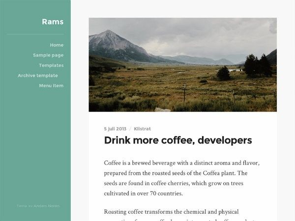 wordpress themes para blog