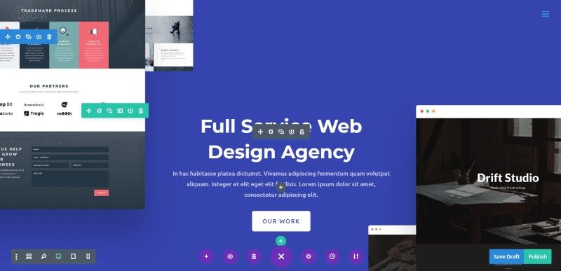 Divi Builder Front-end